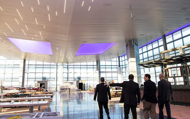 United Hosts Preview Of New Terminal C North At Bush