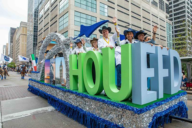 Houston Airports Debuts New Float At Houston Rodeo Parade