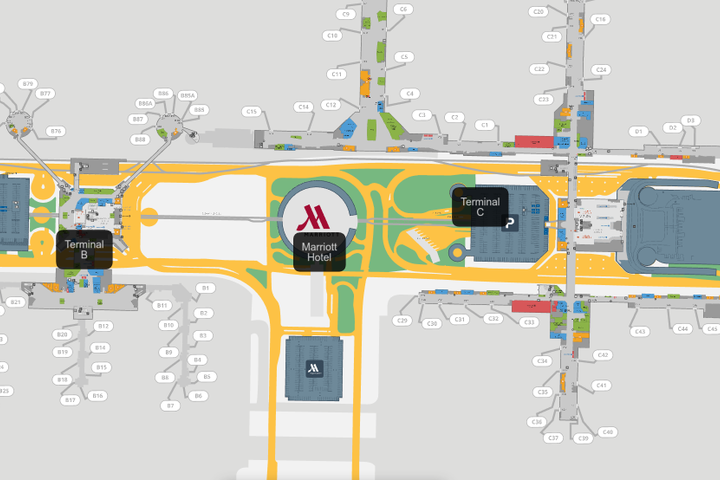 iah houston terminal map Iah Turn By Turn Wayfinding Houston Airport System iah houston terminal map