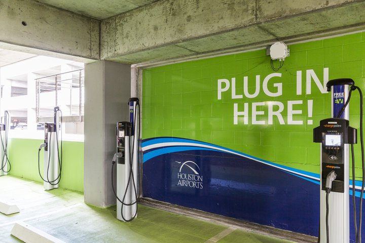 Hou Ev Charging Houston Airport System